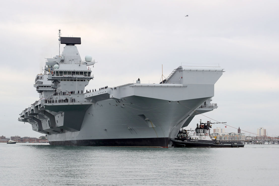 Hms Queen Elizabeth Sailed Into Her Home Port Of