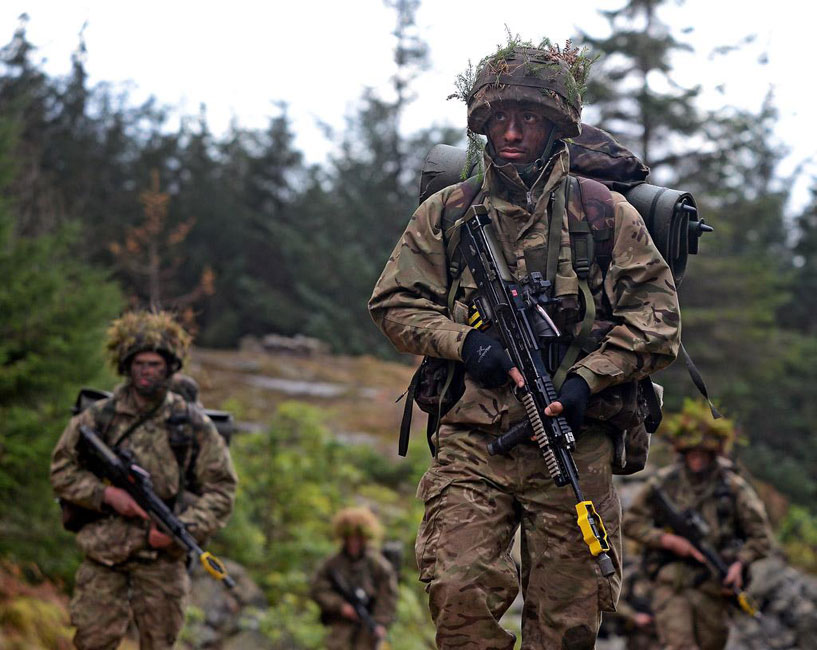 Royal marine trainee officers in the wilds just plymouth - Royal marines recruitment office ...