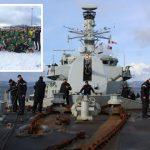 HMS Sutherland's rugby team took on Trondheim Rugby Klubb