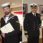 Royal Navy Police officers John Hewitt and Luciano Uccella receive awards