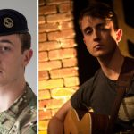 Royal Navy sailor, Able Seaman Chris Linton, hits the high notes