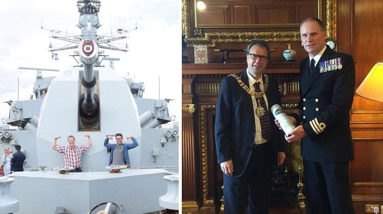 HMS Somerset in Scotland