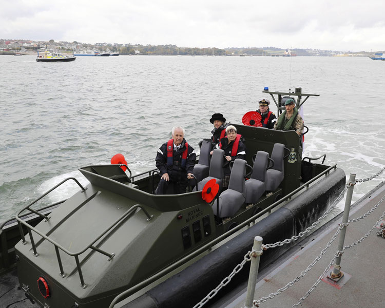 Devon Poppy launch - Adm Stanhope in RIB