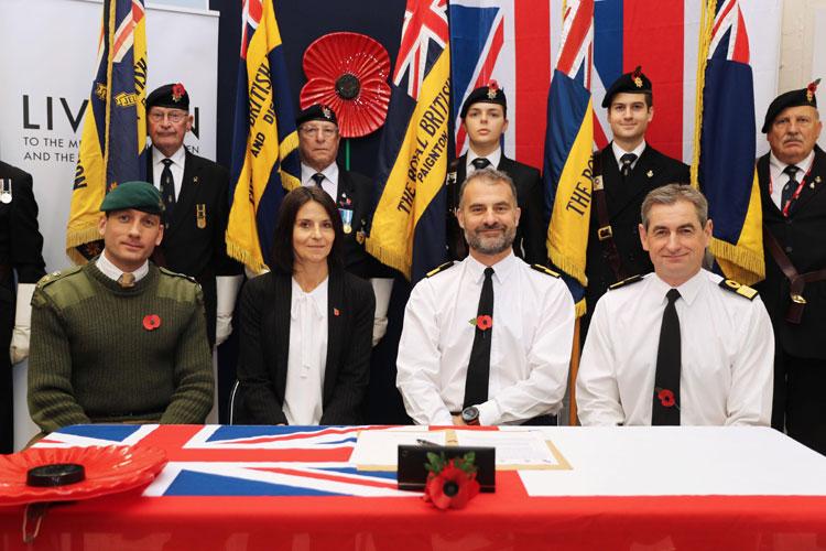 Lt Col Jon Cresswell, Susanne Archard, Cdre Paul Halton, Cdre Ian Shipperley