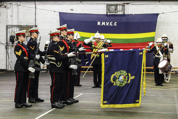 RM Cadet Band on parade