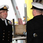Captain Tim Neild, HMS Albion's new captain