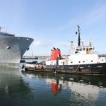 HMS Albion enters open water after two-year refit