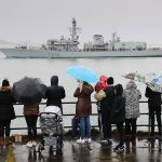 HMS Monmouth deploys from Plymouth