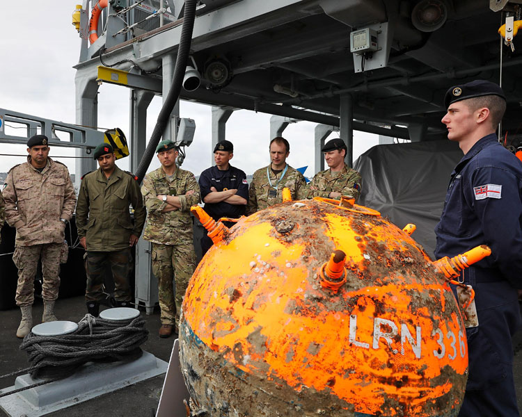 Staff College Sea Days mine detection HMS Hurworth
