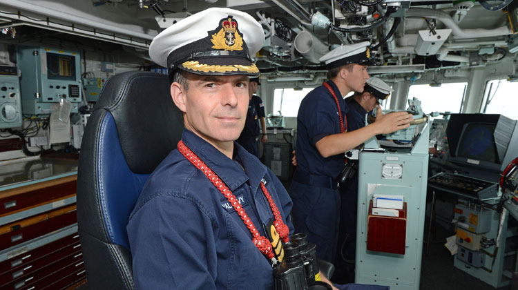 Royal Navy Captain, Commander Michael Wood, awarded MBE for operations