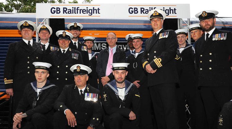 Royal Navy Warship HMS Argyll honoured by train company