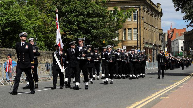 HMS Ocean Freedom of the City of Sunderland