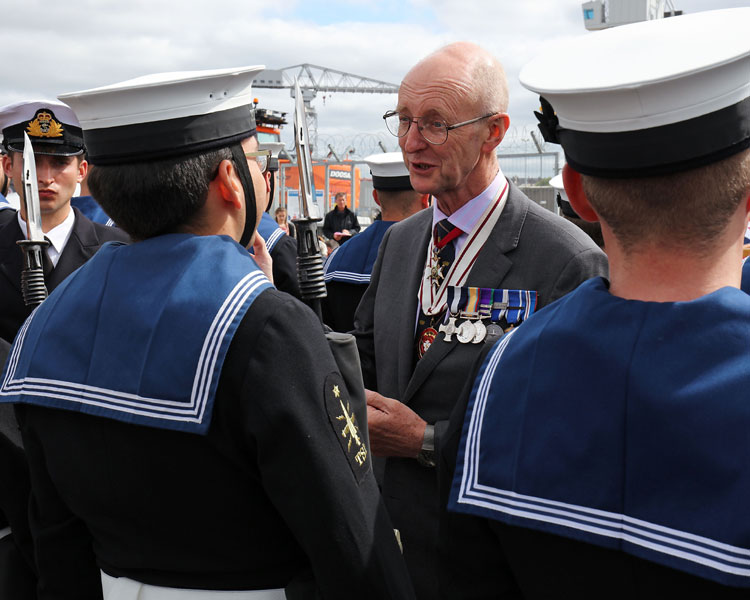 Vice Admiral Sir Richard Ibbotson - HMS Torbay