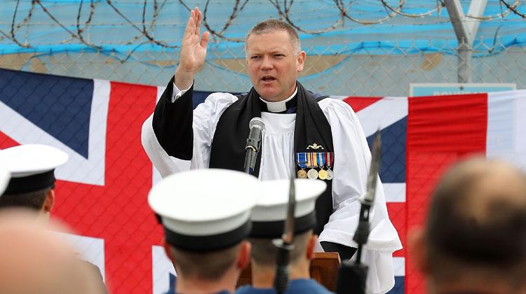 Sailors celebrate HMS Torbay's proud service
