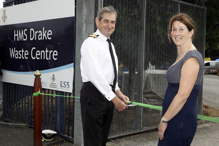 Royal Navy recycling plant
