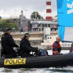 The Queen's Harbour Master and MoD Police advising on water safety