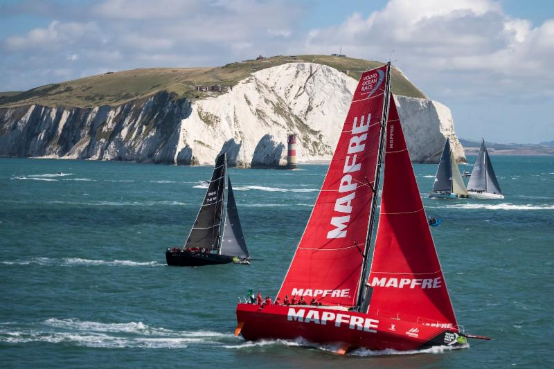 MAPFRE VO65 at the Needles