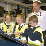 Royal Navy warship hosts schools' science event