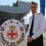 Tavistock man's pride as aircraft carrier named