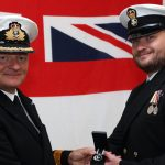 Petty Officer James Oakley receives excellence award