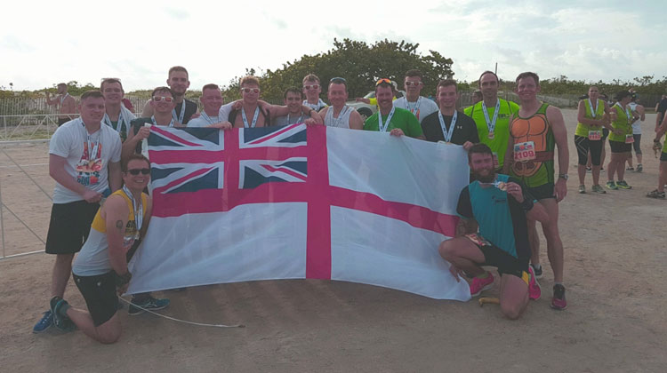 HMS Ocean's fittest run a charity 10km race