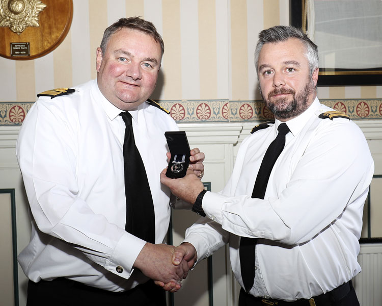 Rear Admiral Robert Tarrant and Lt Cdr Anthony Wallace