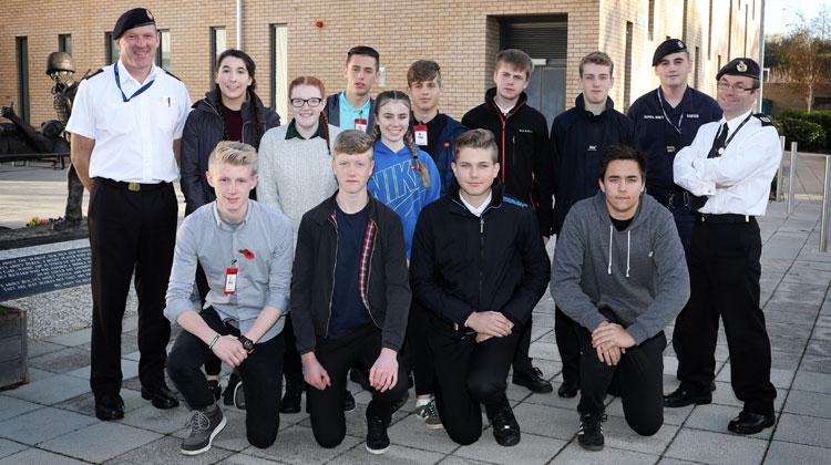 Teenagers taste life in the Royal Navy
