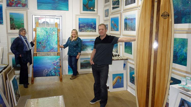 Local family launch a marine themed art studio at Mount Batten