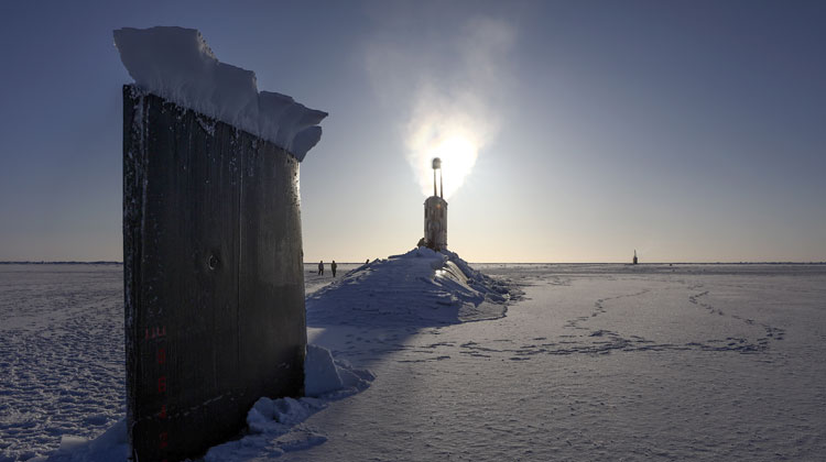 Royal Navy submarine HMS Trenchant breaks through North Pole ice
