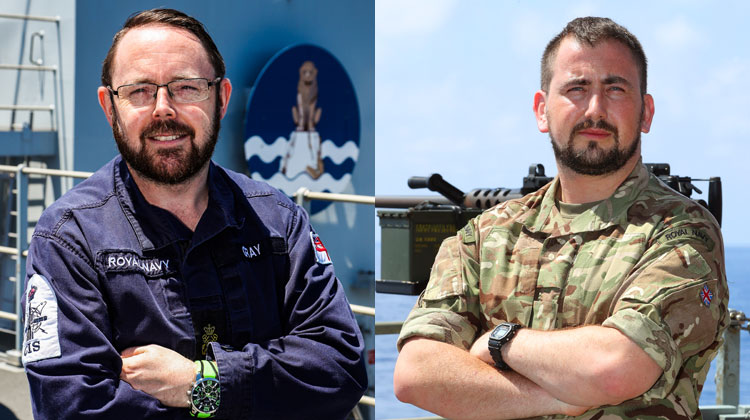 Royal Navy sailors in Far East on Plymouth Warship HMS Albion