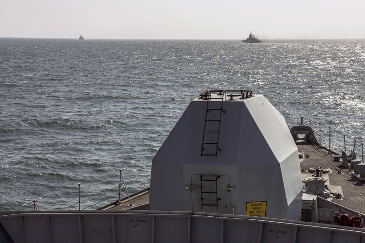 HMS Montrose shadowed two Russian warships