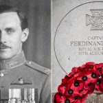 RAF honours, Captain Ferdinand West, the first pilot to win the Victoria Cross