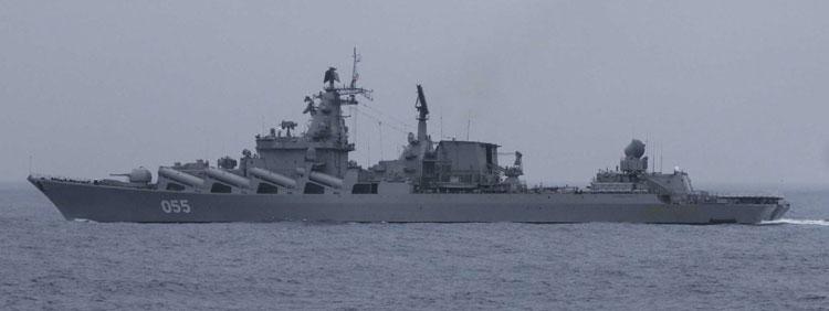 Russian Slava-class cruiser Marshall Ustinov