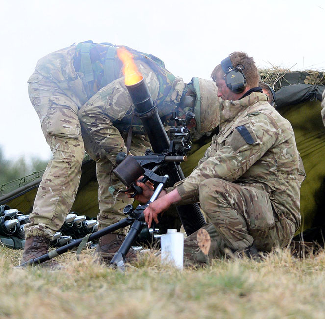 Royal Marines Live-firing Exercise