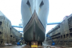 HMS Scott in dry dock