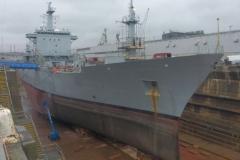 HMS Scott in dry dock