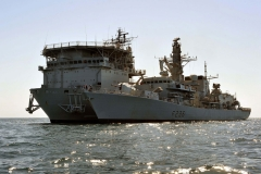 RFA Diligence  and HMS Montrose