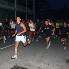 HMS Bulwark's crew deserted their ship and ran away, but all in a good cause, their destination the top of the Rock of Gibraltar.