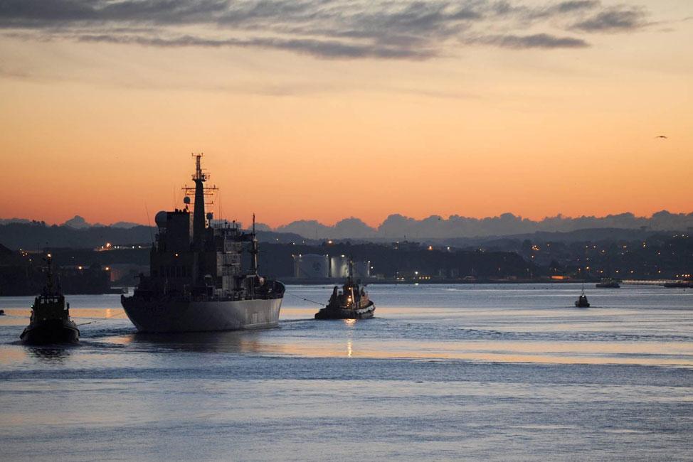 HMS Scott returns to the Antarctic