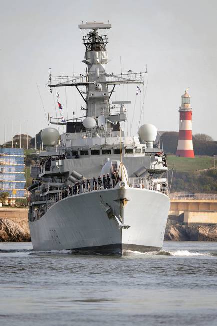 HMS Portland home from Atlantic and Pacific patrol