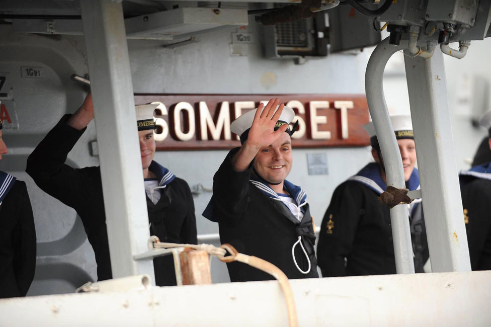 HMS Somerset home from successful policing patrol