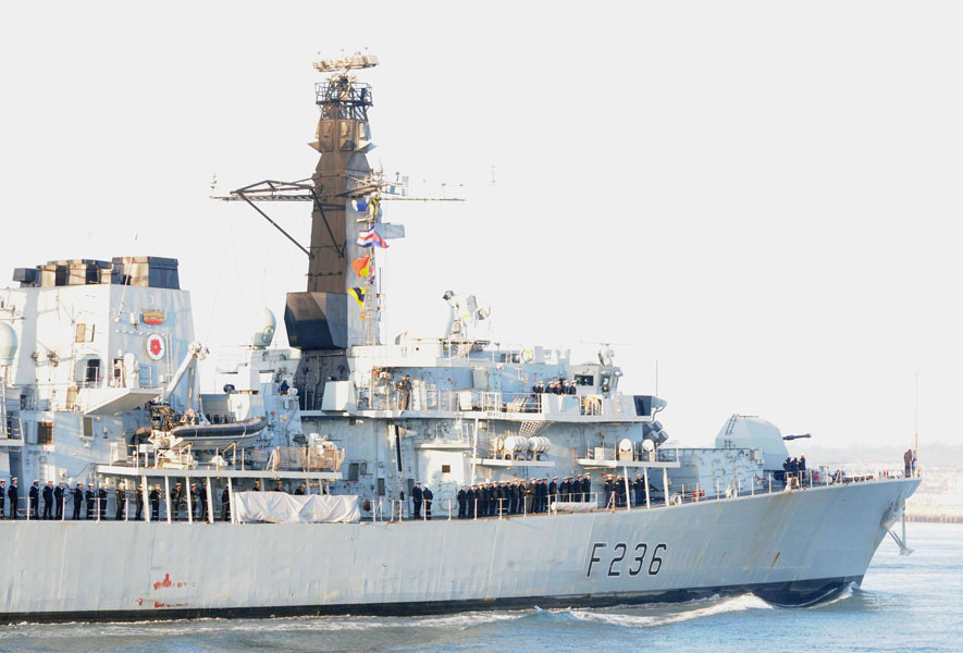 HMS Montrose home from hard-hitting anti-piracy patrol