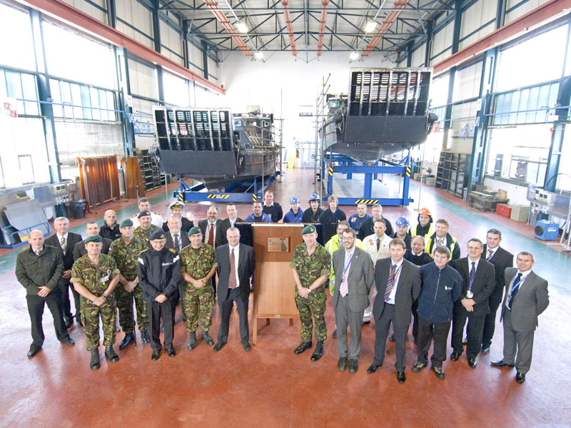 Royal Navy landing craft refit building opened