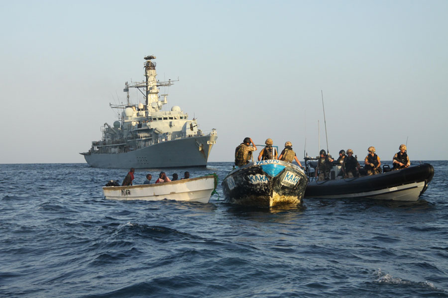 HMS Montrose home from anti-piracy patrol