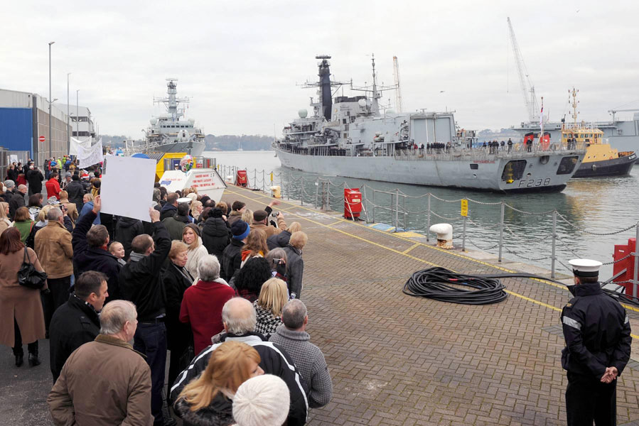 HMS Northumberland welcomed home