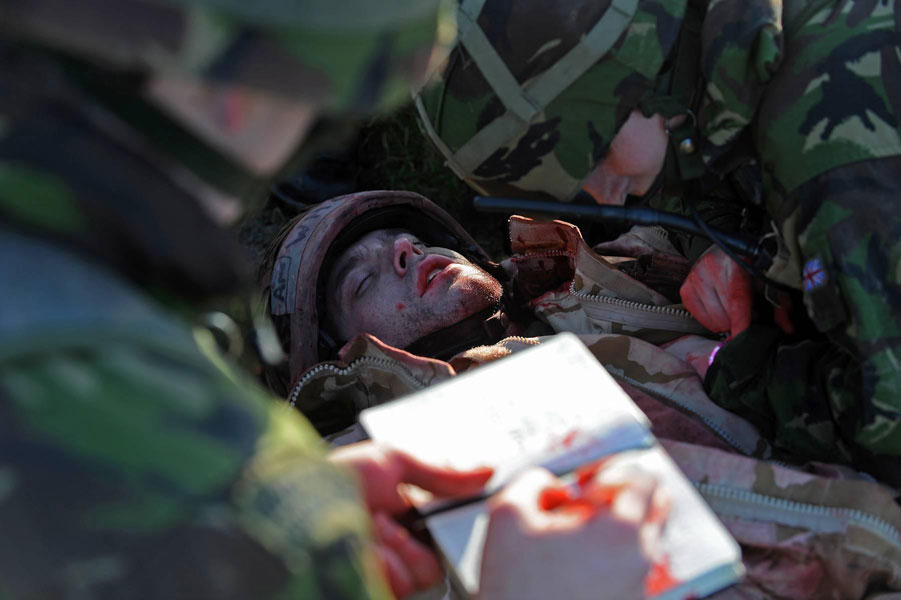 Royal Naval medical personnel training for front-line