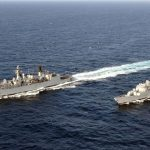 HMS Cumberland (F85) and HMS Cornwall (F99)