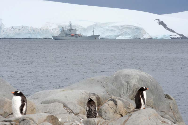 Royal Navy survey ship HMS Scott on Ice Patrol