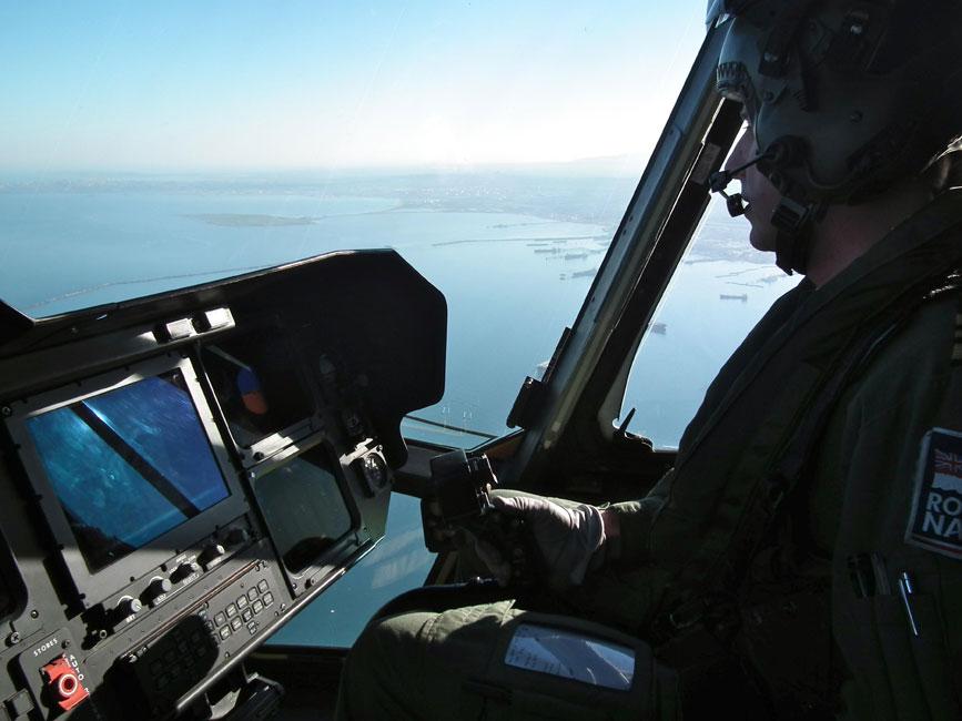 Royal Navy Helicopters Anti-Submarine Training