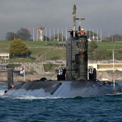 HMS Triumph home from Libya Operations